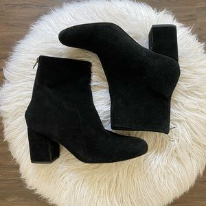 Free People Cecile Boots Black Suede